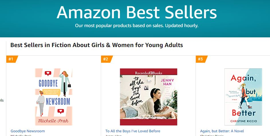 Amazon #1 for girls and young women