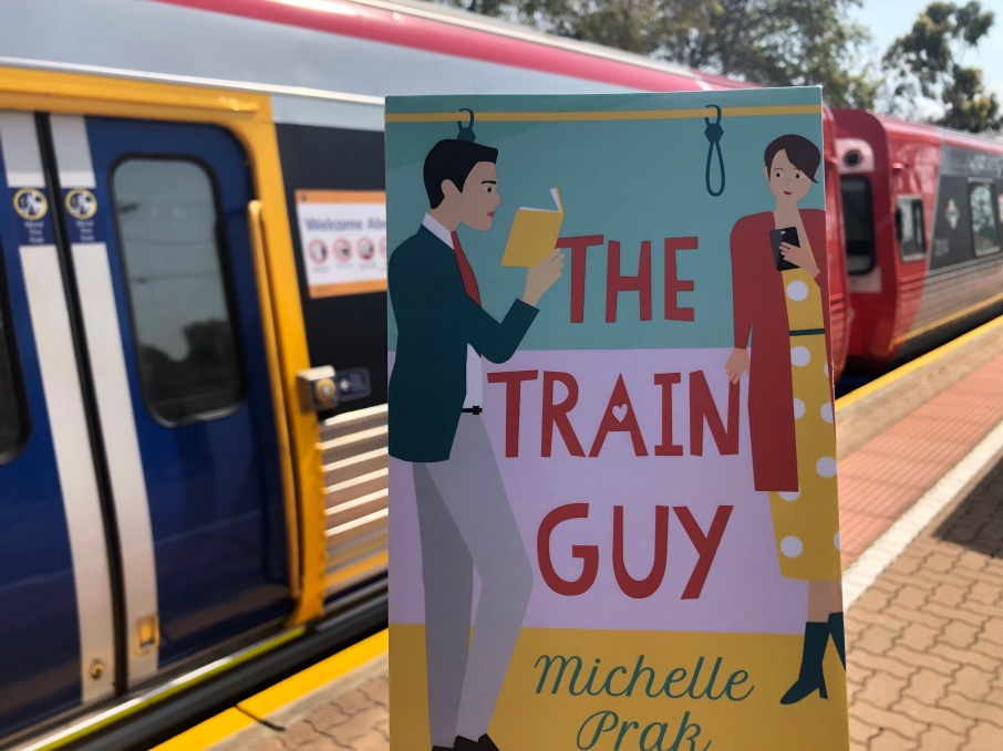 The Train Guy in front of train carriage