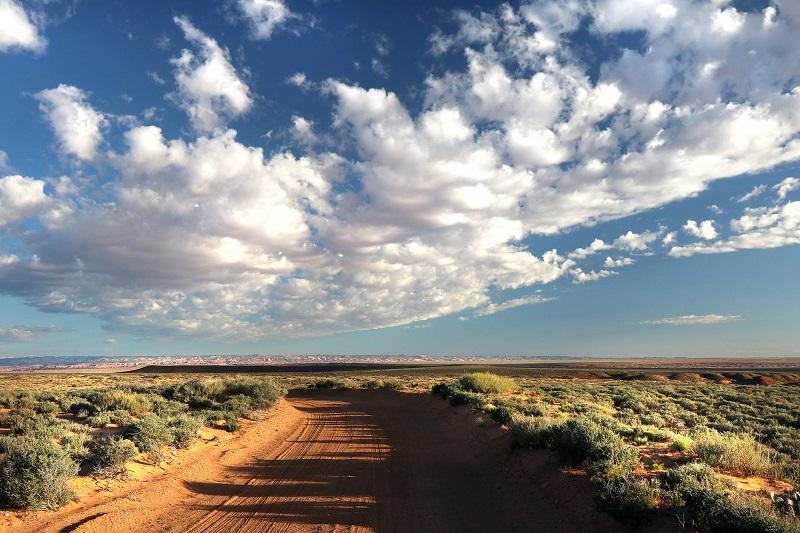 Australian bush landscape with big blue sky